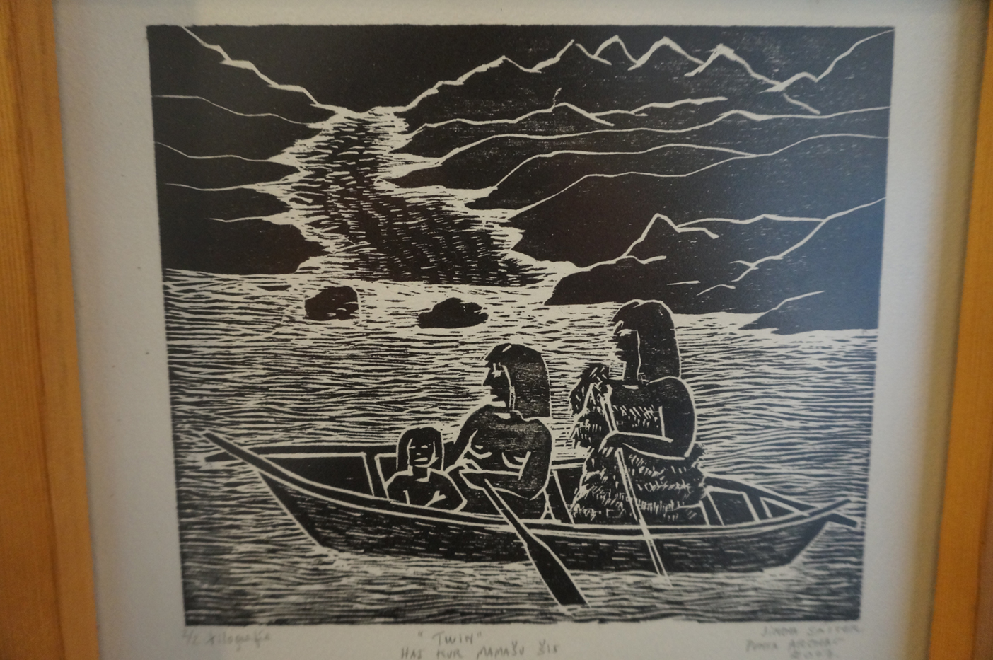 An image from the Yangan Museum. There is only one remaining Yangan who lives in Puerto Williams!