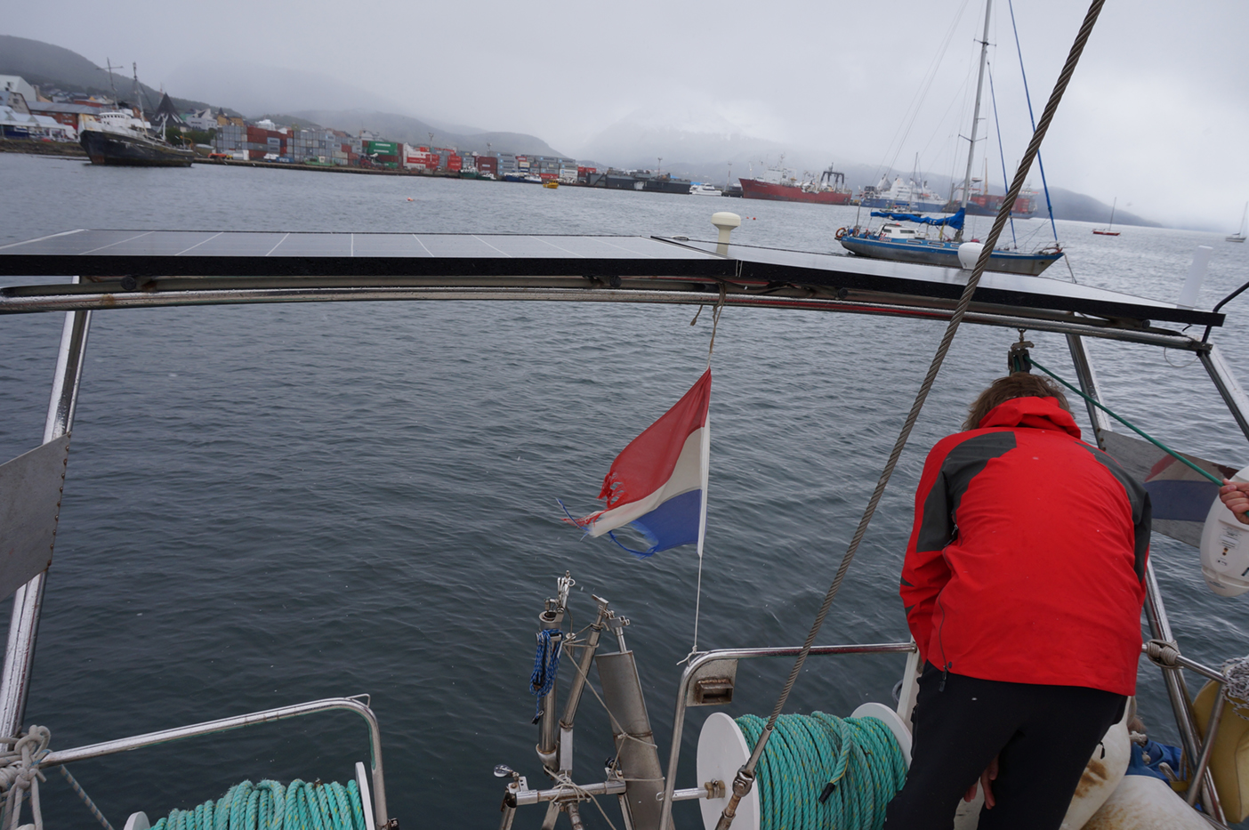 Arrived in the calm waters of Ushuaia's port.