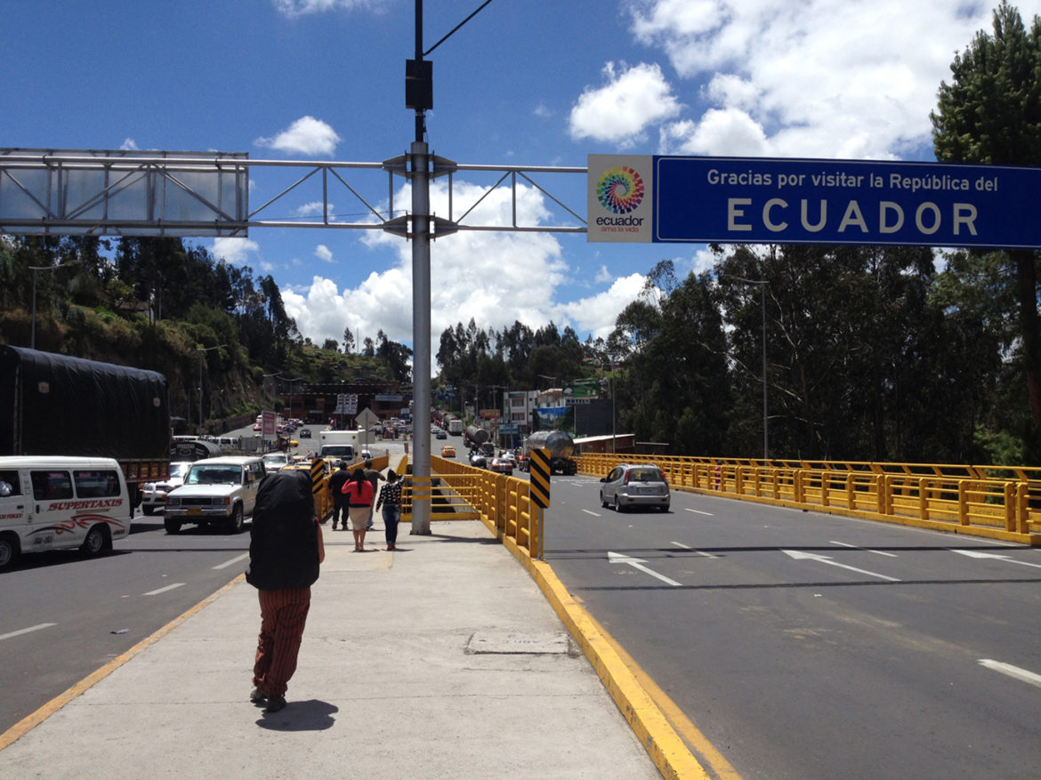 Ecuador to Colombia border crossing